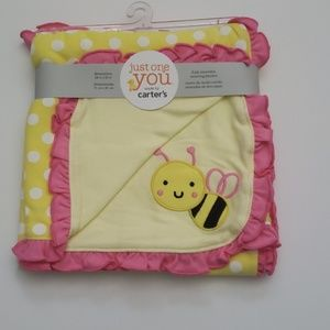 Carter's- Yellow and Pink -Bumblebee Blanket